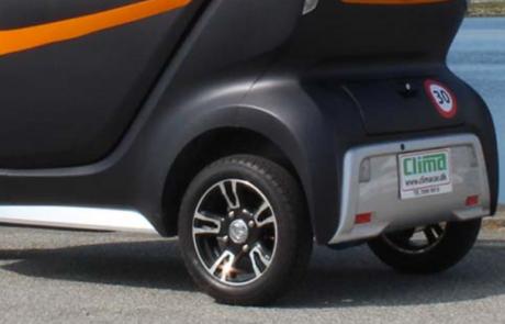 alufælge på en kabinescooter